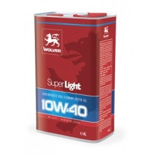 Полусинтетическре моторное масло Wolver Super Light 10w40 4 литра