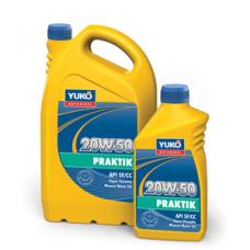 Всесезонное минеральное моторное масло YUKOIL PRAKTIK 20W-50 1 литр