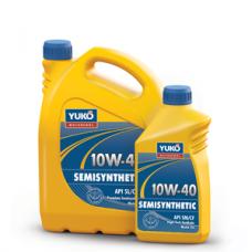 Полусинтетическое моторное масло YUKOIL SEMISYNTHETIC 10W-40 премиум класса 4 литра