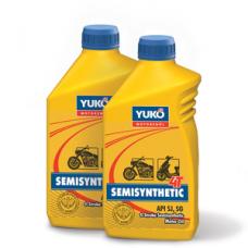Полусинтетическое всесезонное масло YUKO SEMISYNTHETIC 4T 10W-40