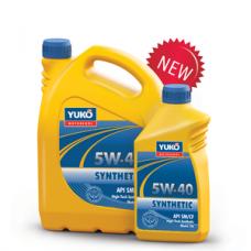 Синтетическое моторное масло YUKOIL SYNTHETIC 5W-40 класса High-Tech 1 литр